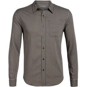 Icebreaker Compass Camisa Franela Manga Larga Hombre, monsoon/british tan